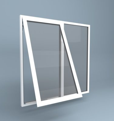 uPVC Window Top Hung Left Fixed Right