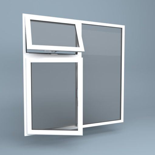 uPVC Window Vent Over Side Hung Left Fixed Right