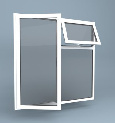 uPVC Window Left Open Vent Over Right Fixed