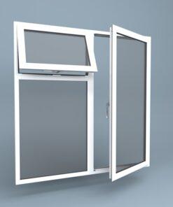 uPVC Window Right Open Vent Over Fixed Left