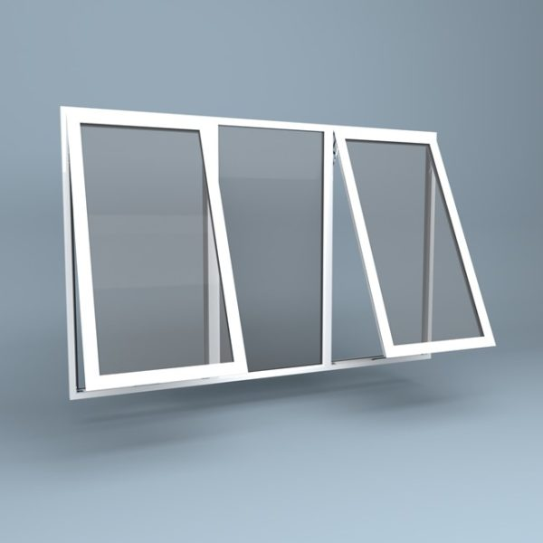 uPVC Window - Centre Fixed - Top Hung Left & Right