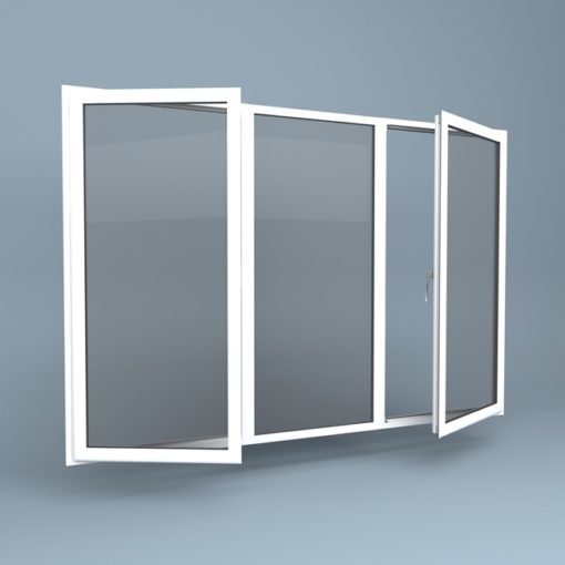 uPVC Window - Centre Fixed - Side Hung Left & Right
