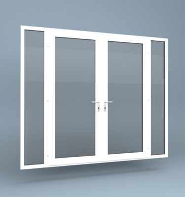 uPVC French Doors Full Height Side Screens