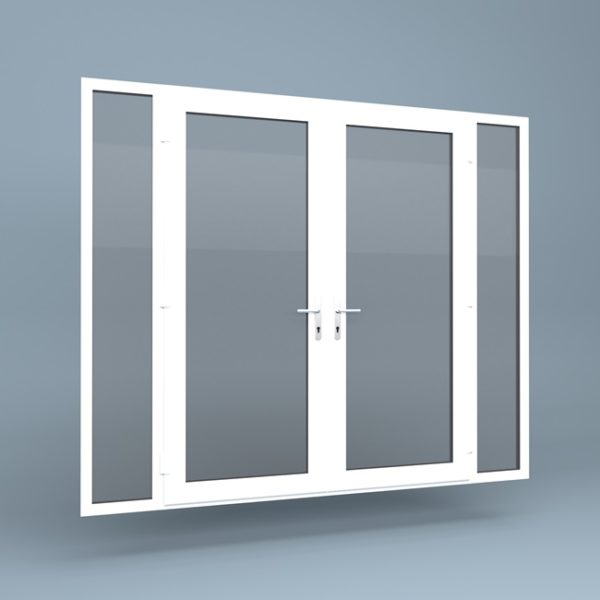 uPVC French Doors Full Height Side Screens