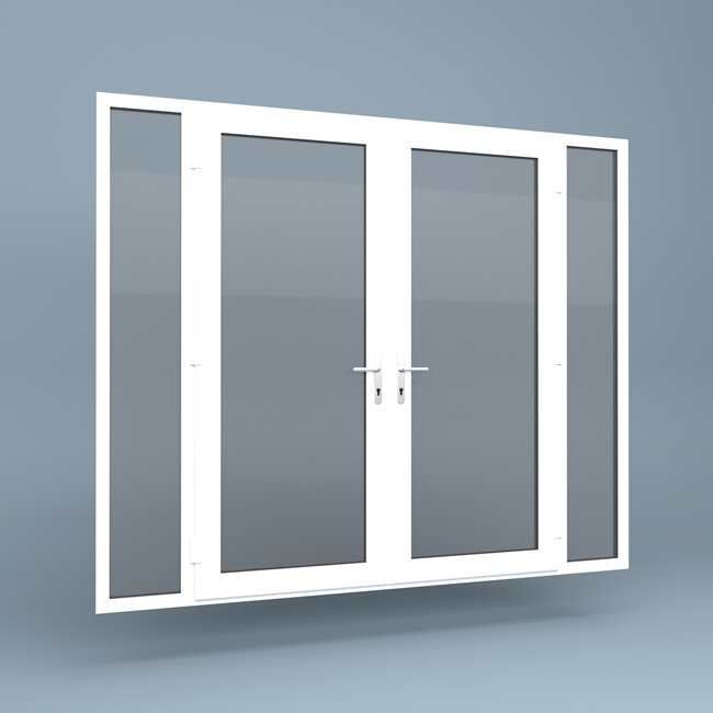 Upvc French Doors Full Height Side Screens Window Supply Direct