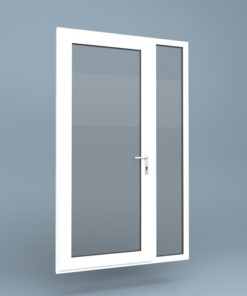 uPVC Door Full Height Side Screen Right