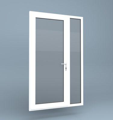 uPVC Door Full Height Side Screen Right