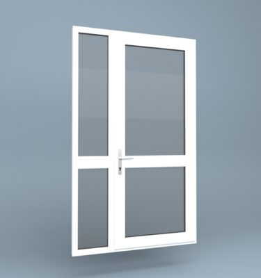 uPVC Door Mid Rail Side Screen Left