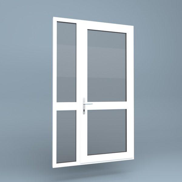 uPVC Door Mid Rail Side Screen Left