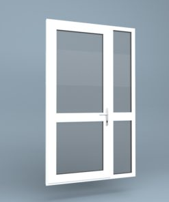 uPVC Door Mid Rail Side Screen Right