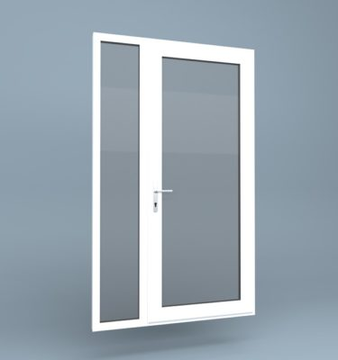 uPVC Door Full Height Side Screen Left