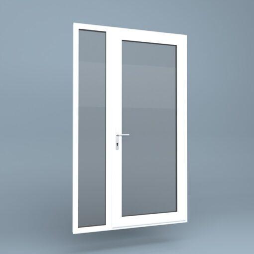 uPVC Door Full Height Side Screen Left