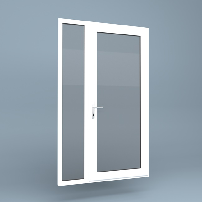 Upvc Door Full Height Side Screen Left Window Supply Direct