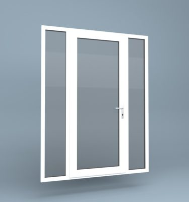 uPVC Door Full Height Side Screens