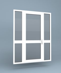 uPVC Door Mid Rail Side Screens