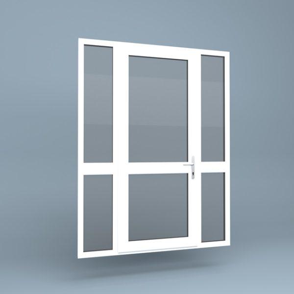 uPVC Door Mid Rail Side Screens