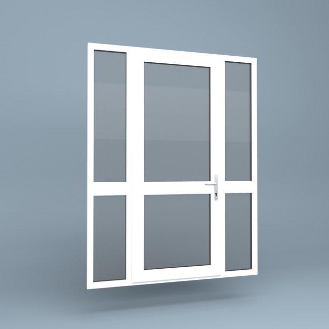 uPVC Door \u2013 Mid Rail \u2013 Side Screens & uPVC Door - Mid Rail - Side Screens - Window Supply Direct Ltd