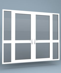 uPVC French Doors Mid Rail Side Screens