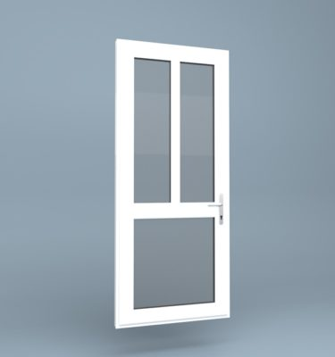 uPVC Door Mid Rail 3 Section
