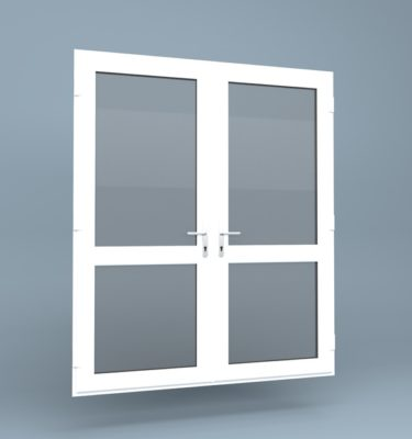 uPVC French Doors Mid Rail