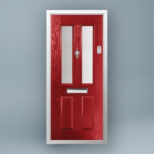 Cezanne Signal Red Composite Door