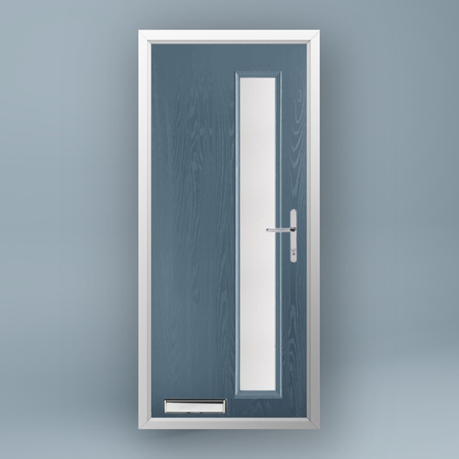 Mondrian Slate Grey Composite Door