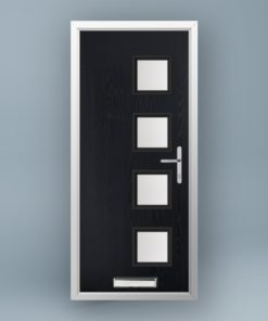 Mondrian Anthracite Grey Composite Door