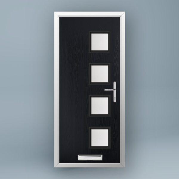 Mondrian Anthracite Grey Composite Door