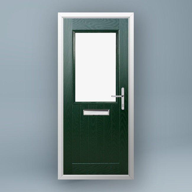 Turner Pine Green Composite Door & Turner Pine Green Composite Door - Window Supply Direct Ltd