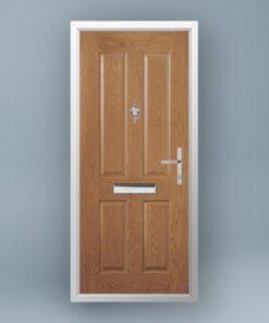Cezanne Golden Oak Composite Door