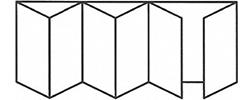 Bifold Door 6-1-5 Mirror